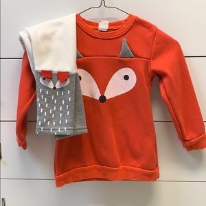 Kacakid 2pc Fox outfit size 100/ 3T